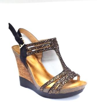Sandale dama negre cu talpa ortopedica deosebit de comoda