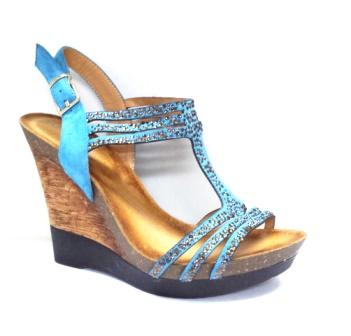 Sandale dama albastre cu talpa ortopedica deosebit de comoda