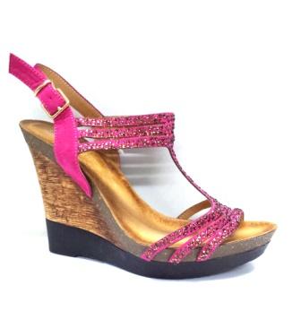 Sandale dama roz cu talpa ortopedica deosebit de comoda