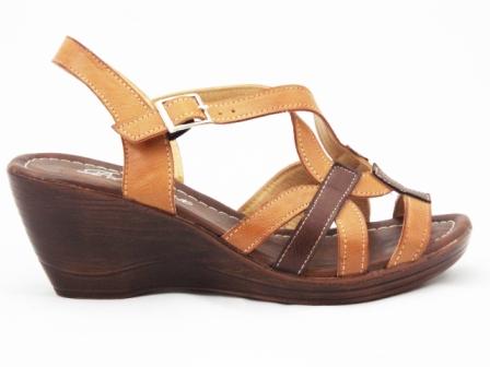 Sandale dama maro cu talpa ortopedica, model barete.