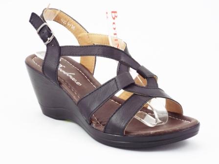 Sandale dama negre cu platforma, elegante
