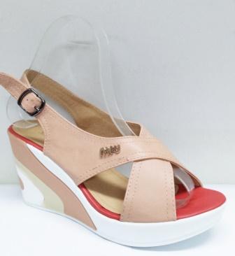 Sandale dama bej, ortopedice, pastelate