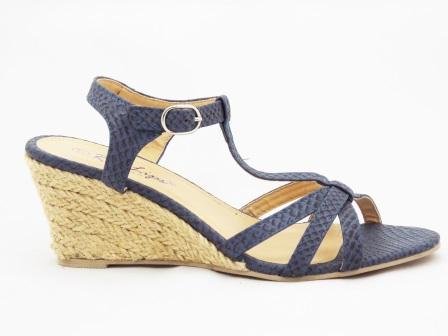 Sandale dama albastre cu talpa ortopedica