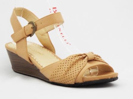 Sandale dama bej, ortopedice, accesoriu material perforat