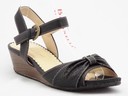 Sandale dama negre, ortopedice, accesoriu material perforat
