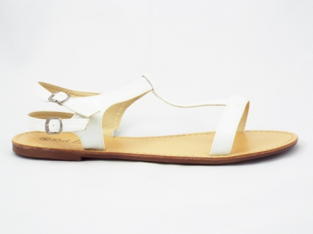 Sandale dama albe, lac