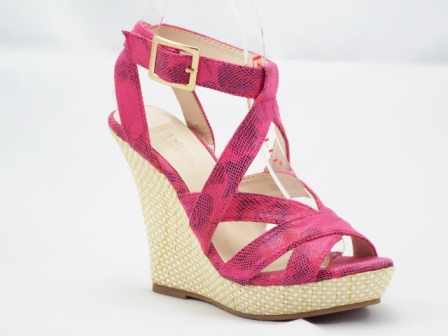 Sandale dama roz, ortopedice, cu platforma