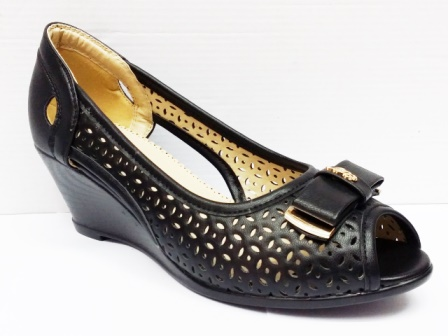 Sandale dama negre perforate, cu talpa ortopedica, deosebit de comode