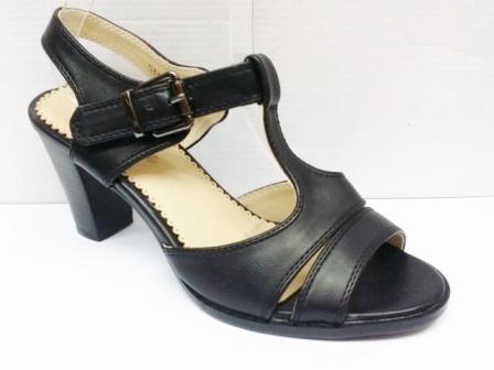 Sandale dama negre, in doua nuante, toc de 5 cm, ortopedice
