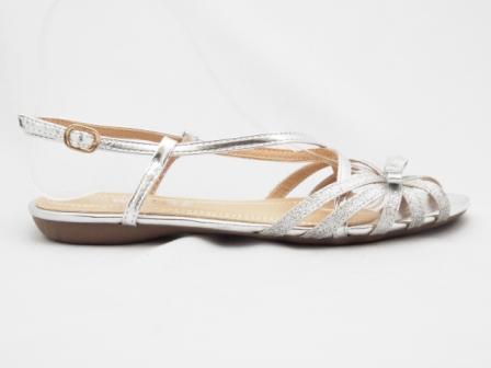 Sandale dama argintii glitter, deosebit de comode
