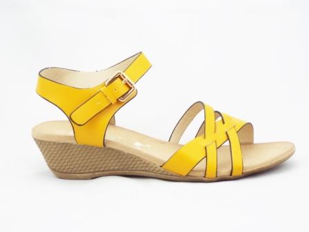 Sandale dama galbene, ortopedice
