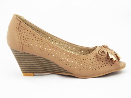 Sandale dama kaky material perforat cu accesoriu metalic