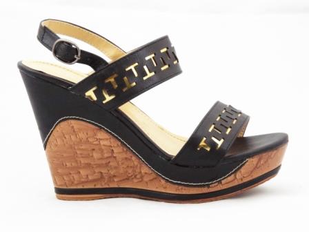 Sandale dama negre,ortopedice, cu barete perforate.