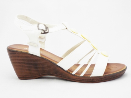 Sandale dama albe, ortopedice