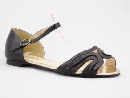Sandale dama negre, elegante LADY