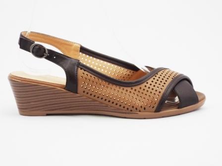 Sandale dama maro, talpa ortopedica