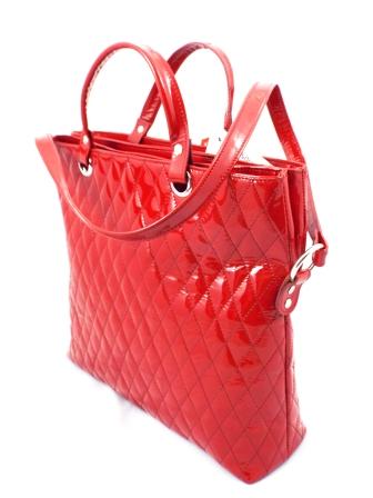 Geanta dama rosie CORY piele naturala lacuiat premium model deosebit