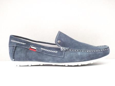 Pantofi Barbati Albastru Deschis Din Piele Intoarsa Naturala Premium  Tip Scarp  Cu Talpa Comfortabila