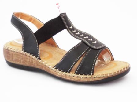 Sandale dama negre,ortopedice, foarte comode.
