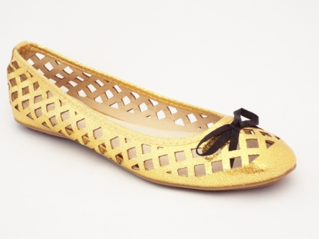 Balerini dama aurii cu perforatii