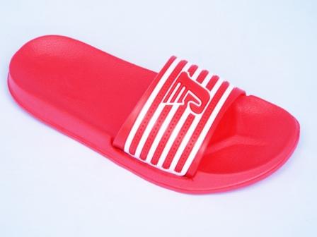 Papuci dama rosii de plaja, material siliconic
