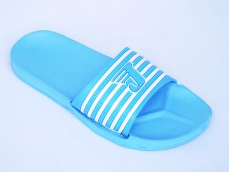Papuci dama bleu de plaja din material siliconic