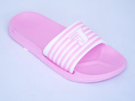 Papuci dama roz de plaja din material siliconic