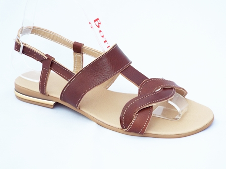 Sandale dama maro, din piele naturala