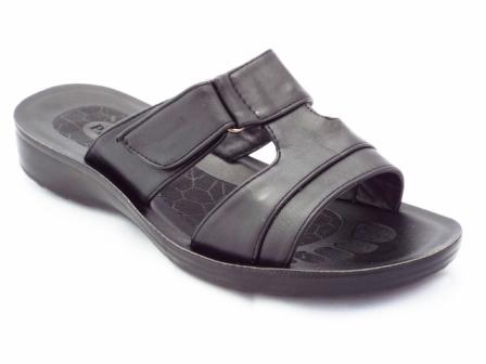 Papuci dama negri, cu catarama pe arici