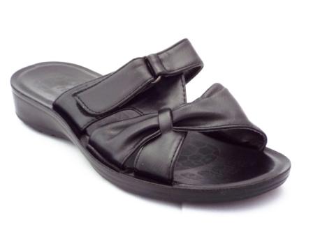 Papuci dama negri, cu catarama pe arici si talpa foarte comoda
