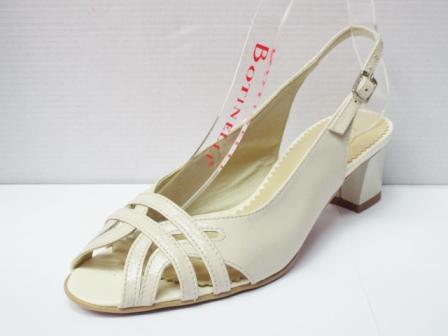 Sandale dama bej din piele naturala , cu model tip curele frontale