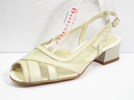Sandale dama bej din piele naturala , cu plasa