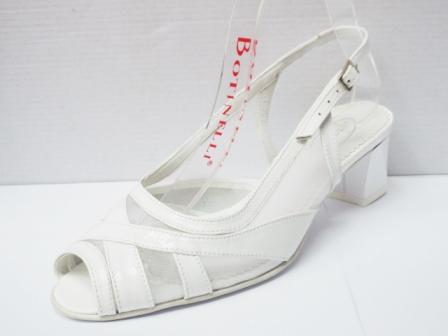 Sandale dama albe din piele naturala , cu plasa
