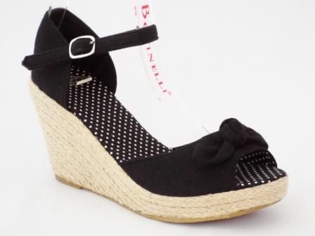 Sandale dama negre cu talpa ortopedica, accesoriu frontal tip funda