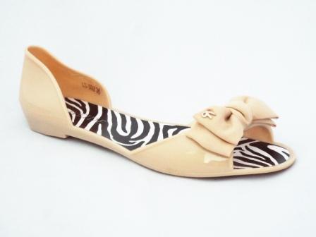 Sandale dama bej nude din silicon